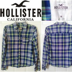 Hollister Plaid Button Down Shirt Size Medium M